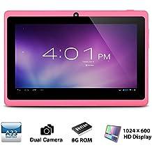 Alldaymall Tablet, 7 pulgadas, 8GB, Wi-Fi, Quad Core, Android 4.4 (Rosa)