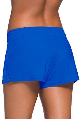 Aleumdr Donna Pantaloncini Costumi da Bagno Pantaloncini da Nuoto Pantaloncini Bikini Blu