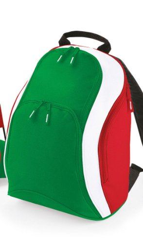 Quadra - Nation Rucksack Flag Green/White/Flag Red