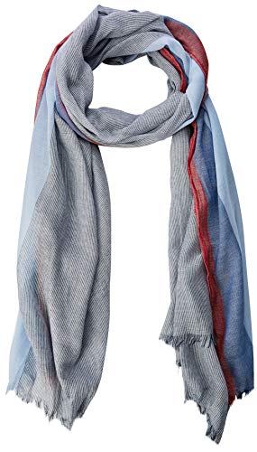 s.Oliver Herren 97.902.91.7442 Schal, per pack Blau (blue stripes 57G1), One Size (Herstellergröße: 1)