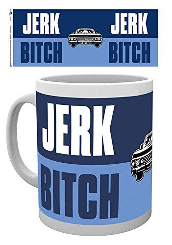 Supernatural-Jerk Bitch-Tazza in ceramica-Misura Altezza