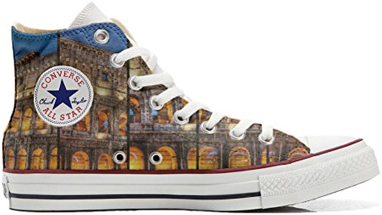 mys Converse All Star Customized Unisex   Personalisierte Schuhe (Handwerk Produkt) Colosseo Roma   Size EU 44
