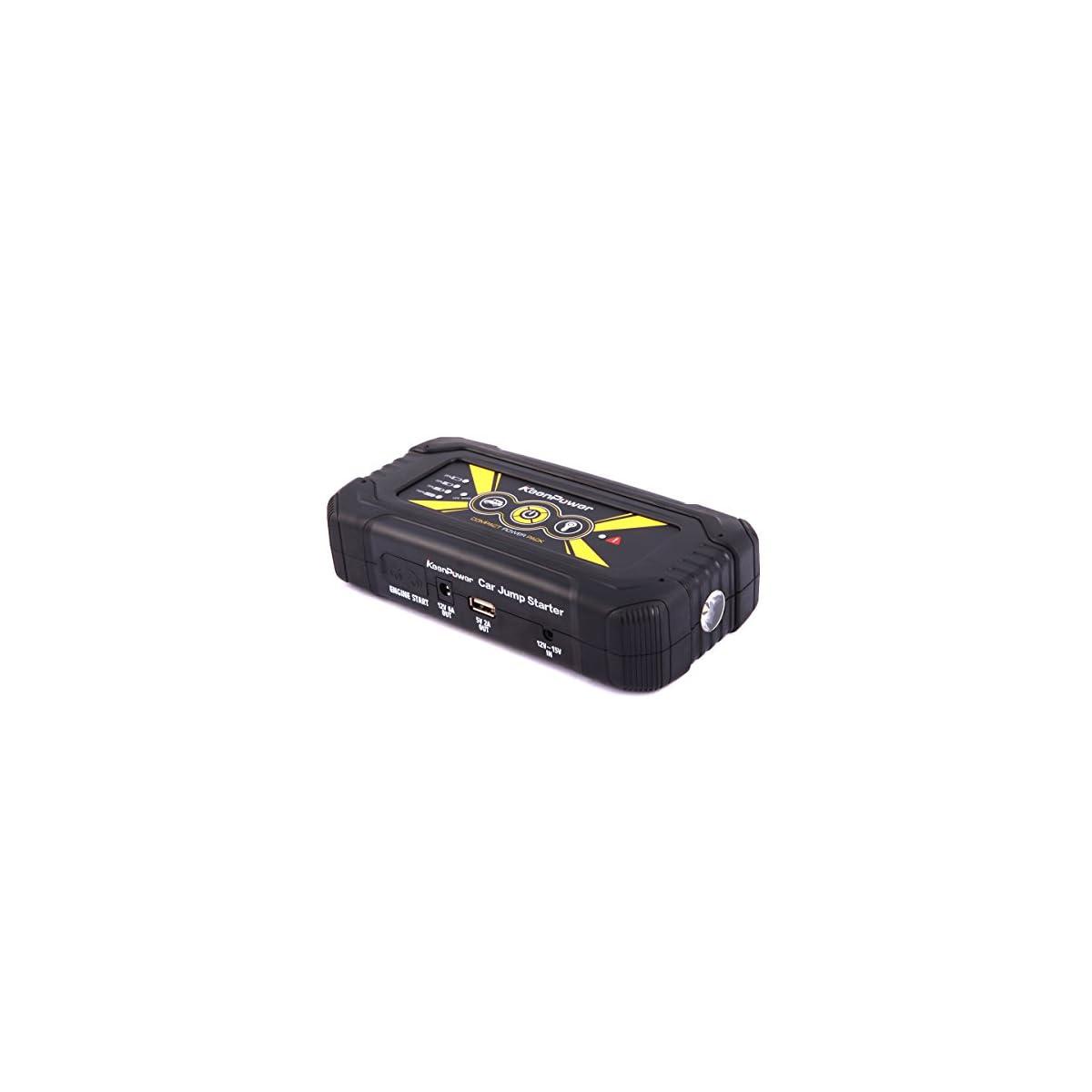 41GQgwVI7wL. SS1200  - Keenpower Cargador móvil portátil del arrancador del salto del coche de la emergencia 18000mAh 900A para la batería de coche 12V Gasolina Diesel Auto