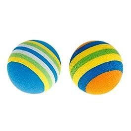 Forgun – Set di 10 palline colorate per animali domestici, in EVA, morbide e interattive, per gatti, cani, gatti, cuccioli, gattini