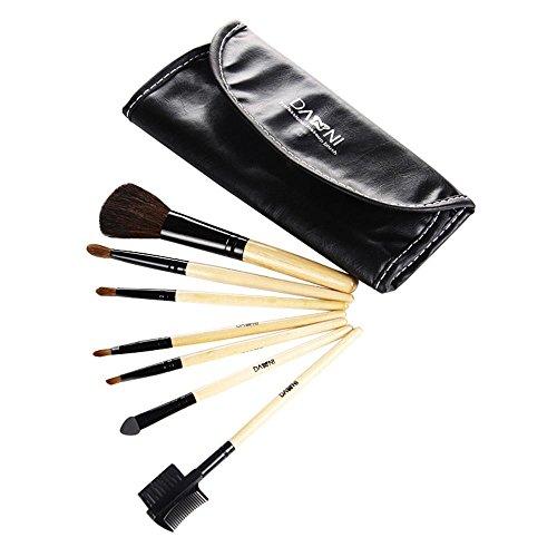 Lot de brosse de maquillage, Pawaca 7 pcs Premium Pinceaux de maquillage Fond de teint Mélange Blush Concealer Fard à paupières poudre Pinceaux de maquillage kit, Sac en cuir PU étanche inclus
