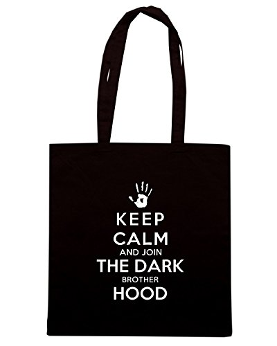 T-Shirtshock - Borsa Shopping TGAM0040 Keep Calm And Join The Dark Brotherhood Nero