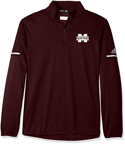 NCAA Men 's Sideline L/S 1/4Zip Pullover Jacke, herren, NCAA Sideline L/S 1/4 Zip Pullover, kastanienbraun, Small