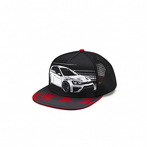 Volkswagen 5KA084300 Basecap GTI Original VW Kappe Cap Baseballcap schwarz/rot