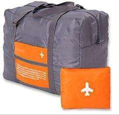 Harikrishnavilla Waterproof Large Capacity Polyester Folding Travel Bag (Orange)