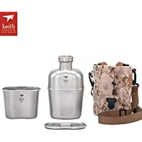 Keith Trekking Titan Military Wasserflasche Camping Kessel mit Cup Portable Dual Use Kaffeekanne Essgeschirr