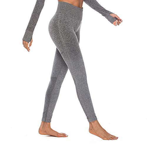 Felicove Damen Sport Leggings, Drucken Leggings Damen Fitness-Sporthose Gym Yoga Athletische Hosen Winterleggings Thermoleggings Workout Trainingshose Damen Sport Yogahose Langarm-leggings