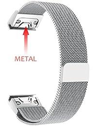 Moda sólido bastidor de acero inoxidable reloj banda correa bandas de metal magnético milanese Loop acero inoxidable.