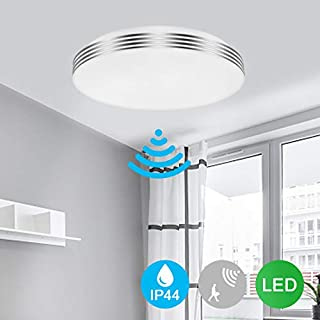 led Ceiling Light Kitchen, Radar Motion Sensor, 18W 1200lumen 6500K Cold White, 230V 18LEDs, Flush Mounting, Ceiling Light led for Living Room Garage Hallway Basement Cabinet Stair Office