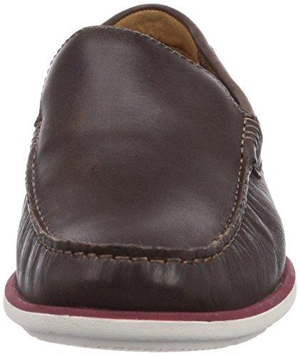 Clarks  Kelan Lane, chaussures bateau homme Marron - Braun (Dark Brown Lea)