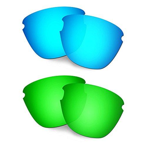 HKUCO Verstärken Ersatz-Brillengläser für Oakley Frogskins Lite Blau/Grün Sonnenbrille