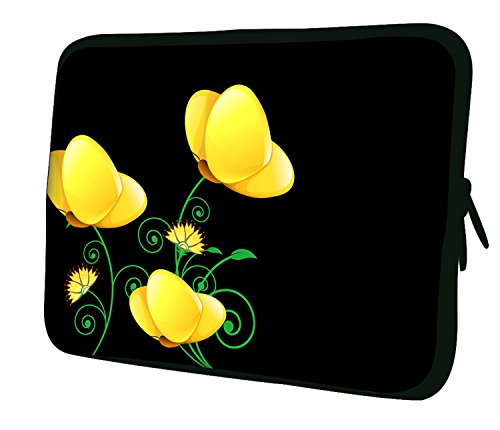 Luxburg nuovo design in neoprene Custodia morbida Borsa per Notebook/Laptop/Tablet da 7,9, colore: giallo papaveri