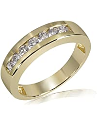 goldmaid Damenring Gelb Gold 585 Memoire 7 Brillanten 0,50 Karat Me R2528GG