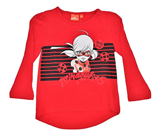 0d6ad2025e Lady Bug Camiseta Infantil niñas Manga Larga 100% algodón (5 años, Rojo)