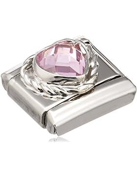 Nomination Composable Damen-Bead Edelstahl Classic Herz Zirkonia pink 330603/003