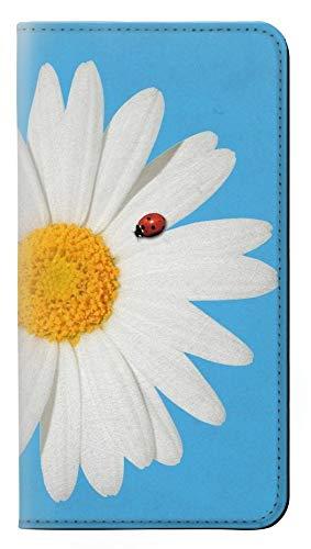 Innovedesire Vintage Daisy Lady Bug Flip Hülle Tasche Klappetui für Samsung Galaxy S10 5G (Bug Lady Case Galaxy 5 Phone)