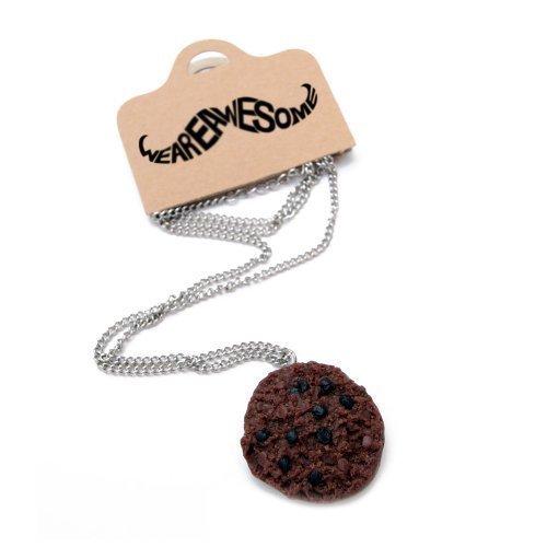 Schokokeks Halskette - ca. 70cm lange Kette - Keks Anhänger Kekskette Cookie Schokolade Backen