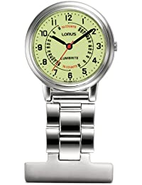 Lorus Lorus Nurses Fob Watch - Silver with Yellow Dial Unisex Silver Stainless steel quartz Fob Watch with Yellow Dialanalogue Display RG253CX9