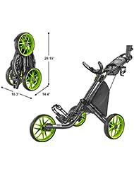 CaddyTek Caddylite EZ V8 – EZ-Fold Golftrolley mit 3 Rädern, zum Schieben, zusammenklappbar