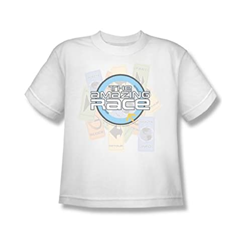 Cbs - The Amazing Race / Das Rennen Jugend-T-Shirt in Weiß, X-Large (18-20), White