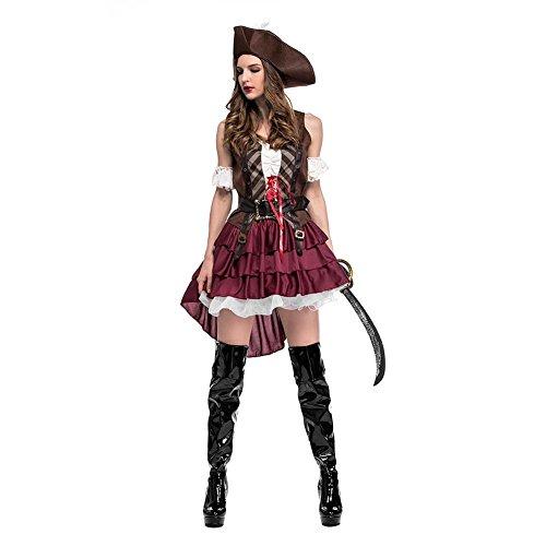 Biback Halloween Party Kostüm Cosplay Somalischer Pirat Sexy Swashbuckler Piratenkostüm Für Festival,Cosplay,Halloween Rollenspiel ()