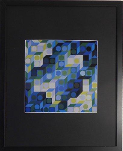 aufgezogen und gerahmt deuton VB Kunstdruck Victor Vasarely–50,8x 40,6cm–Teil der...