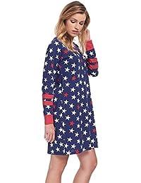 dn-nightwear Damen Nachthemd SOPHIA aus 100% Baumwolle / langarm
