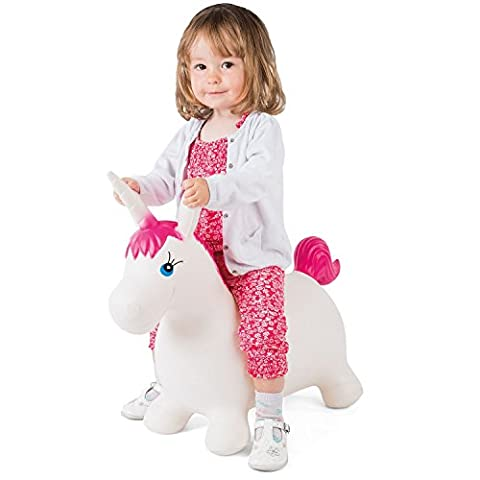 Kids' Bouncy Unicorn Hopper Inflatable Bouncer Toy Bouncing Animal Ride-On