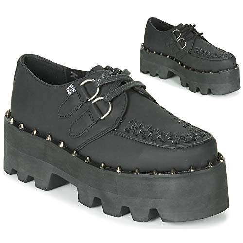 T.U.K. Shoes Damenschwarze Tukhaut Dino Lug Sole Creeper EU39 / UKW6