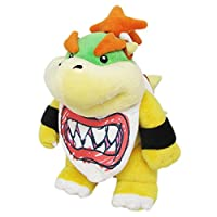 Little Buddy Super Mario All Star Collection 1424 Bowser Jr. Stuffed Plush, 8""