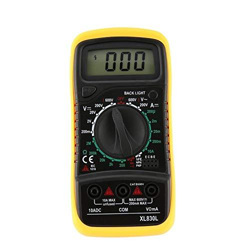 XL830L Hintergrundbeleuchtung Digital LCD Multimeter Voltmeter Amperemeter AC DC Diode Widerstand OHM Volt Tester Test Strom Daten Halten Lcd-voltmeter