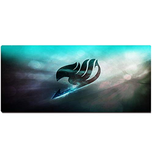 Oversized Anime Mouse Pad(600x300,800x400,900x400x3mm), Cartoon Game Padded Table Mat/Keyboard Pad, One Piece/Naruto/Dragon Ball/Death/Fairy Tail (Anime Pad Mouse)