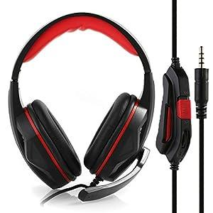 Nosii Geräuschisolation Kopfhörer Gaming Headset mit Mikrofon-Lautstärkeregler für PC PS4 Xbox