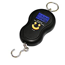 ZBLACKFASHION 50Kg/5G Digital Travel Portable Handheld Weighing Luggage Scale- Pack of 1 (Black)