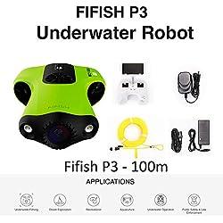 FIFISH Drone sous-Marin P3 caméra 4K UHD 20 mégapixels 100m de Profondeur Enregistrement vidéo Photo pêche Monde sous-Marin 746379