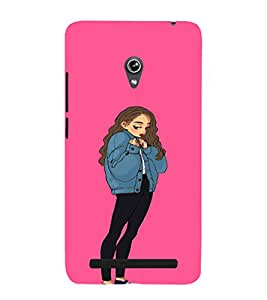 EPICCASE Shy Girl Mobile Back Case Cover For Asus Zenfone 5 (Designer Case)