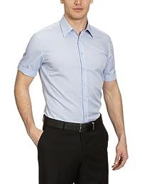 Seidensticker Herren Businesshemd Tailored Kurzarm mit Kent-Kragen bügelfrei