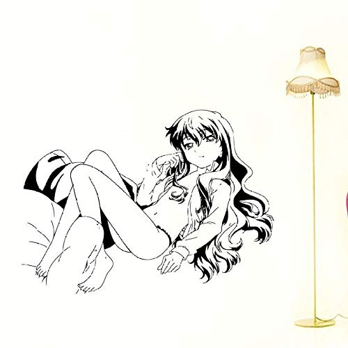 jiushizq Vinyl Wandtattoos Anime MangaBikini Girl Abziehbild Abnehmbare Vinyl Art Home Decor Wandtattoos rot 58 x 80 cm