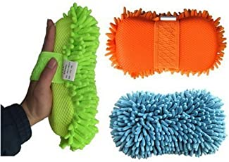 KBF Car Styling-Gloves Microfiber Washer Towel Chenile Duster with Gloves and Grip 2 in 1 Car-Accessories for Cleaning