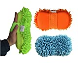 #4: KBF Car Styling-Gloves Microfiber Washer Towel Chenile Duster with Gloves and Grip 2 in 1 Car-Accessories for Cleaning
