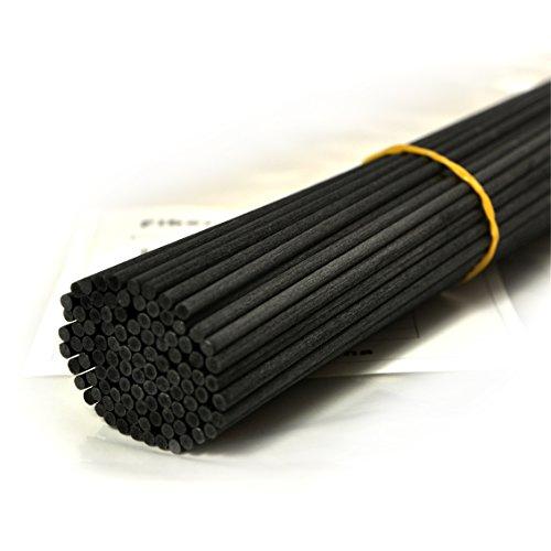 100 Stück Fasern stäbchen Reed Diffusor Stöcke Reed Sticks ätherisches Öl Aroma Diffusor Stöcke (30cm*3mm, Schwarz)
