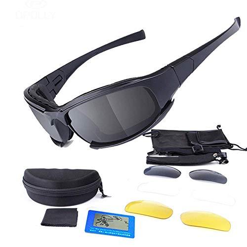 GFF Taktische Brille Militärschutzbrillen Armee Radfahren Sonnenbrille 3 Objektiv +1 Polarisierte Männer Shooting Bike MTB Brillen Sicherheit Für Die Arbeit