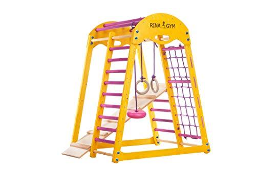 Kinder zu Hause aus Holz Spielplatz RINAGYM Kids holzspielplatz Kinder, Kletterwand, Turnwand, Sprossenwand