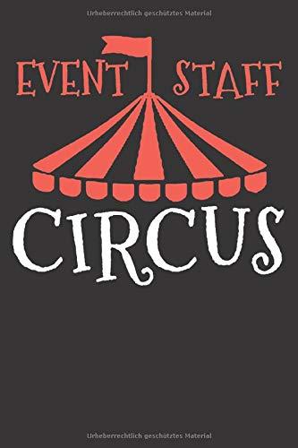 ZIRKUS NOTIZBUCH: Vintage Zirkus Geburtstags Kindergeburtstag Thema Motto 6x9 Notizbuch 120 Seiten liniert