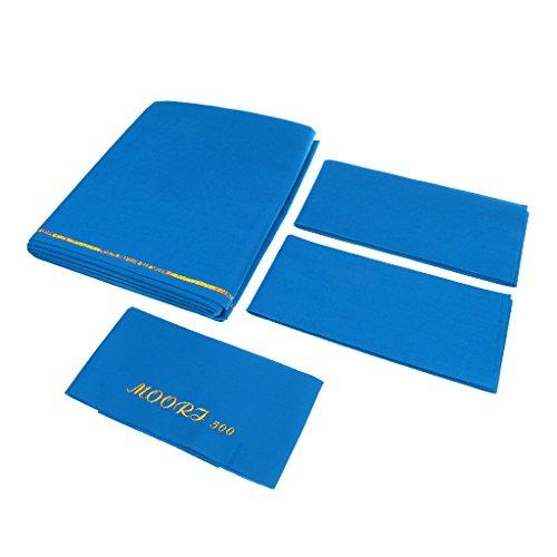MagiDeal Billardtuch für 9ft Tisch Billardtisch Tuch (278 x 155 cm) - Geschwindigkeit & Stabilität der Billardkugel gewährleisten, Top-Qualität - Blau
