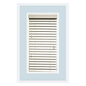 Custom made faux wood horizontal window blinds 2 1 2 inch for 2 inch window blinds